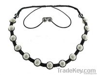 crystal woven shamballa necklace