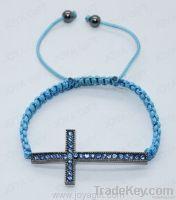 shamballa cross bracelet, shamballa bracelet with diamond cross