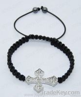 shamballa cross bracelet, shamballa bracelet with diamond cross