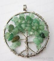 gemstone pendant, lucky tree pendant, brithday pendant