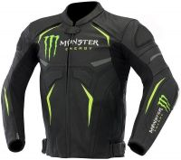 Monster Motorcycle Racing Cow hide Leather Jacket CE Approved Armours All Sizes