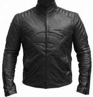 Superman Smallville Men's Black Man of Steel Leather Jacket