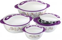 PAVONIA 4 Pcs.Insulated thermo food bowl set