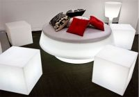 Acrylic Led light Up Cube Seats Series For Hotel Office Commercial Use