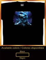 Cotton T-Shirt   Pink delphine (inea geoffrensis)