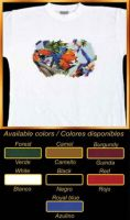 Cotton T-Shirt   Guacamayos (ara aramuna)