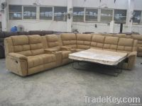 Synthetic Leather Corner Sofa Bed