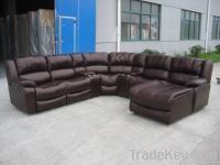 Synthetic Leather Incline Sofa Set