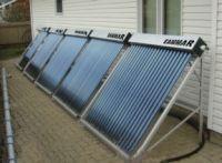 Split solar thermal collector