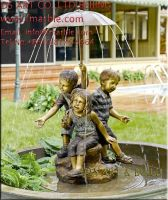 bronze fountain, brass fountain,