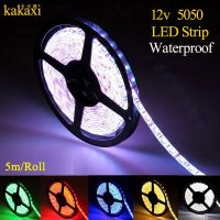High quality 5m 300 LED 5050 SMD 12V flexible light 60 led/m waterproof LED strip