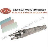 pvc sheet conical twin screw barrel