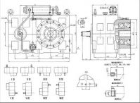 Plastic extruder reduction ZLYJ 173-10 single screw extruder gear box