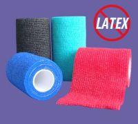 FlexBand LF sew style hand-tear non-woven cohesive flexible bandage (latex free)