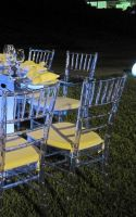 Crystal/Clear Chiavari Chair in Resin