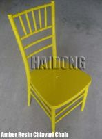 Amber Resin Chiavari Chair