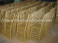 Plastic Golden Chiavari Chair