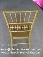 PLASTIC RESIN CHIAVARI CHAIR-MARBLE GOLD