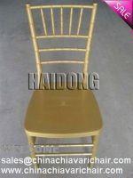 Plastic resin chiavari chair-Marble gold color