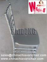Plastic resin chiavari chair-Marble Silver color