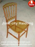 AMBER COLOR RESIN PLASTIC NAPOLEON CHAIR