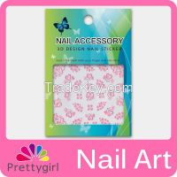 3D Nail Art Sticker Printer Pink Flower Start Heart Decoration