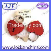 AJF heart shaped Love Padlock - Top quality Lovelock, Gift, Liebesschloss, love lock, wish lock, heart lock, cadenas d'amour
