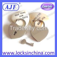 AJF heart shaped Love Padlock - Top quality Lovelock, Gift, Liebesschloss, love lock, wish lock, heart lock, cadenas d'amour