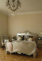 verona silver leaf king size bed