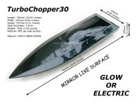 TurboChopper30 mono V hull FRP Glow or Electric