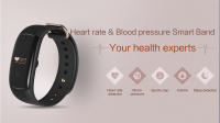 Fashion latest design H5 heartrate monitoring smart bracelet with waterproof IP67 and TPU strap