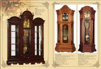 Elegent wooden floor clock1