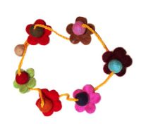 Felt Flower Necklacesa