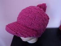 Handknitted visor Winter Hats