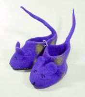 Handmade Felt Indoor Slippers