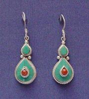 Silver Tibetan Earring