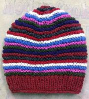 Stripes Woolen Winter Cap -New Arrival