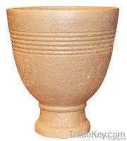 Plant fiber flowerpot