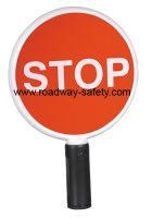 warning stop sign for individual holding