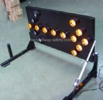 truck mounted traffic LED signal arrow board with electrical lifter