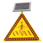 solar powered traffic sign -- pay attention to