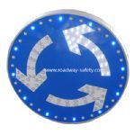 solar powered traffic sign -- round about