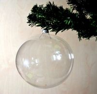 Blown Glass Clear Blanks Transparent Christmas  Ball Ornaments