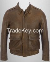Goat leather Fashion Jacket