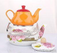 2pcs enamel teapot