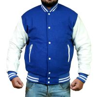 Wool + Leather Varsity College Letterman Jacket
