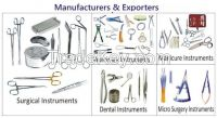 Surgical ,TC , ENT, Dental ,Veterinary , Microsurgery, Manicure Instruments