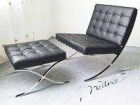 Mies Van Der Rohe Barcelona Chair with Ottoman