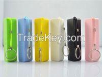2600mAh power bank lipstick style for iPhone, Samsung galaxy, smartphone, HTC,