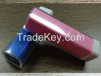 2200mAh, 2600mAh , 3000mAh power bank lipstick style with 18650cell for iPhone, Samsung Galaxy and android smartphone,